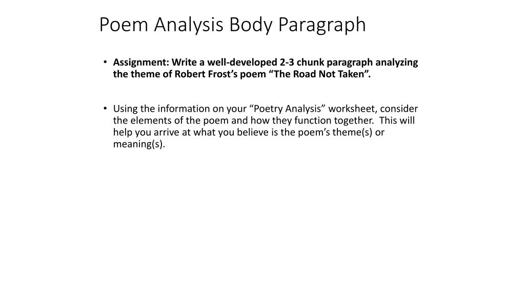 how to write an analysis paragraph