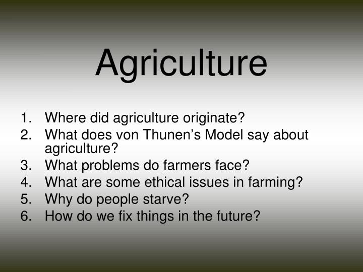 agriculture n.