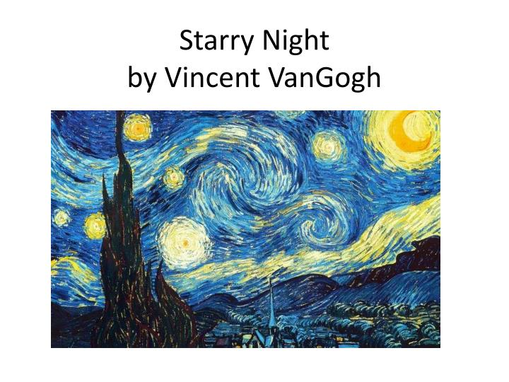 starry night by vincent vangogh n.