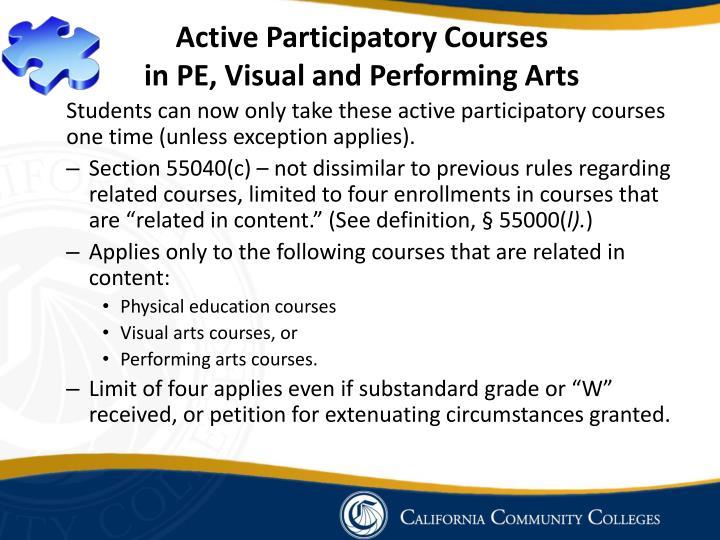 Active Participatory Courses