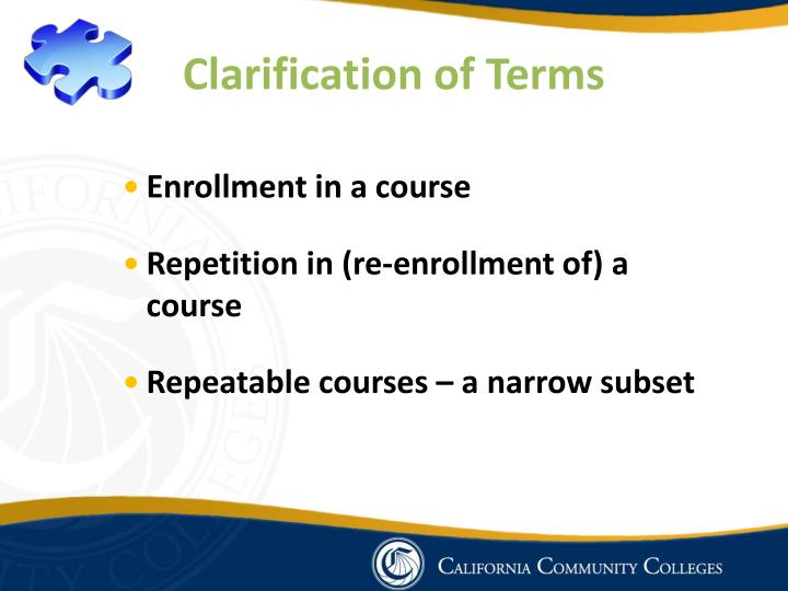 Clarification of Terms