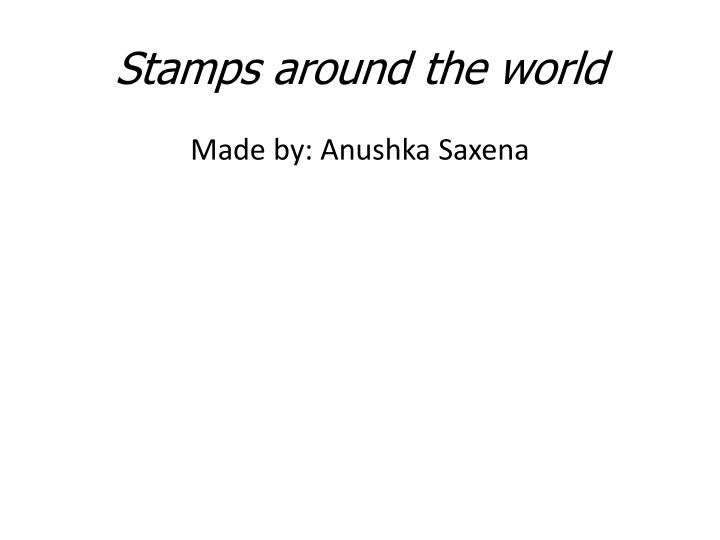 stamps around the world n.