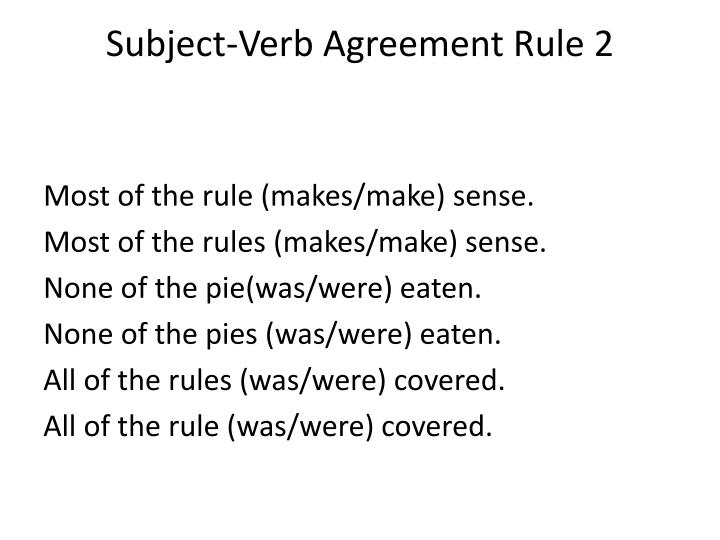 Subject-Verb Agreement Rule 2