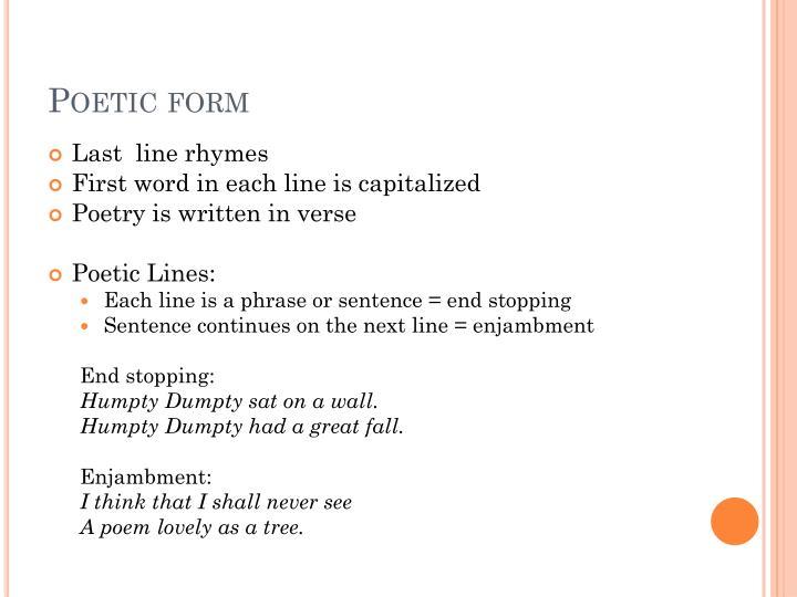 Poetic form