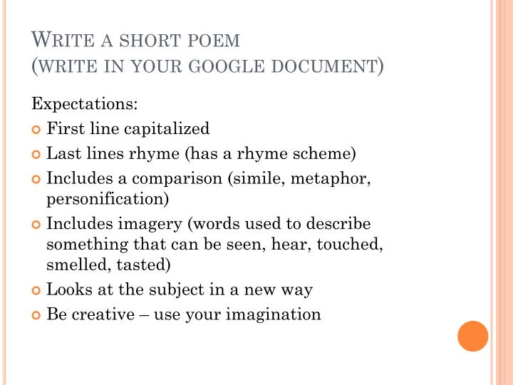 Write a short poem