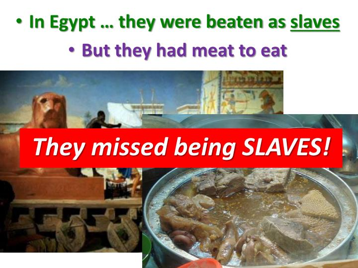 In Egypt … they were beaten as