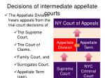 decisions of intermediate appellate courts1