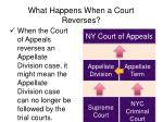 what happens when a court reverses