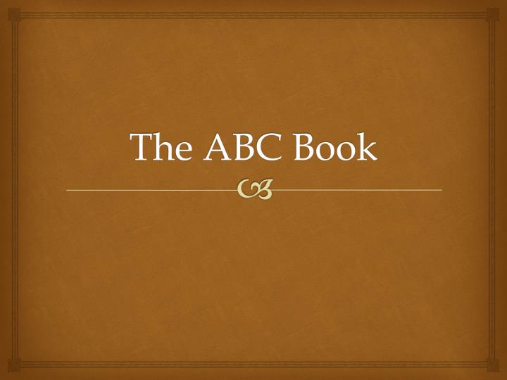 the abc book n.