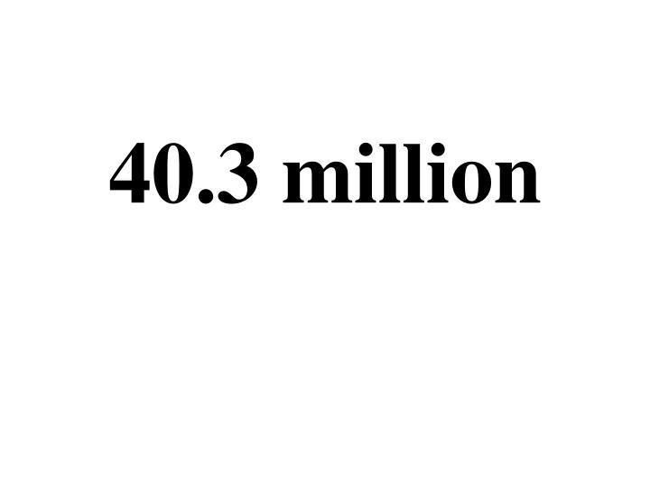 40.3 million