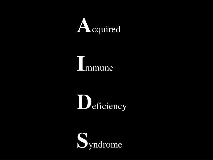 H uman i mmunodeficiency v irus