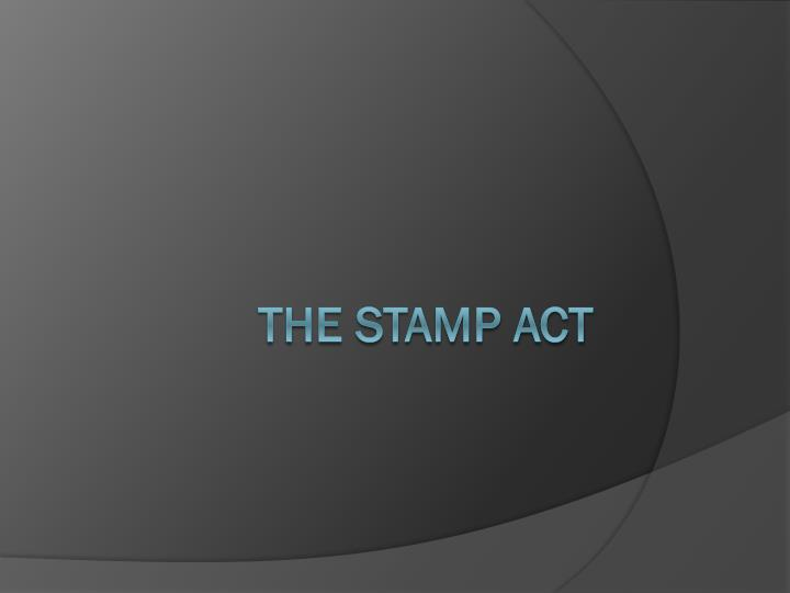 the stamp act n.