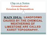 chp 10 2 notes groundwater erosion deposition