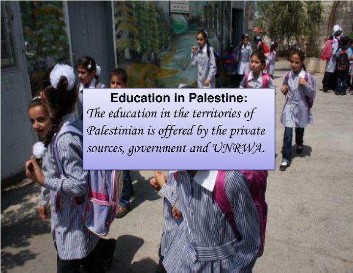 Education in Palestine:
