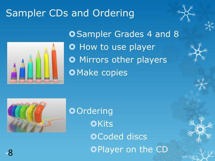 Sampler Grades 4 and 8