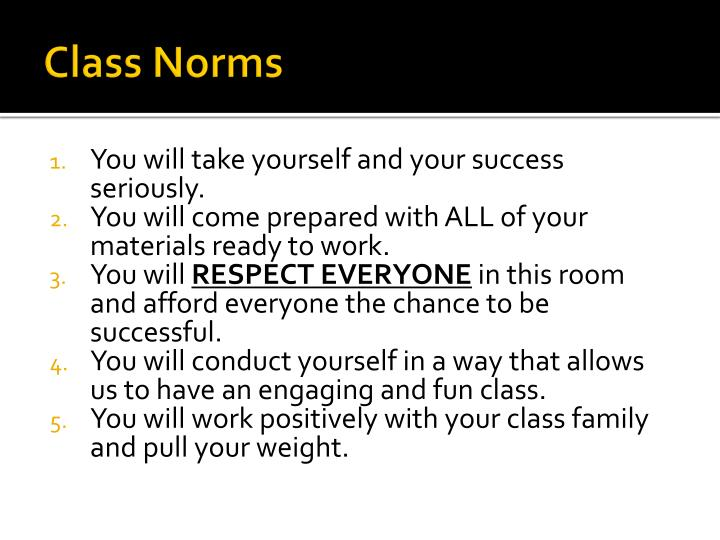 class norms n.