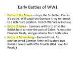 early battles of ww1