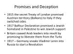 promises and deception