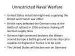 unrestricted naval warfare