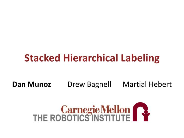 stacked hierarchical labeling n.