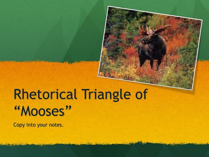 "Rhetorical Triangle of """