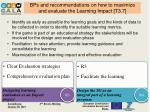bps and recommendations on how to maximize and evaluate the learning impact t3 73