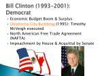 bill clinton 1993 2001 democrat