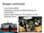 reagan continued