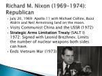 richard m nixon 1969 1974 republican