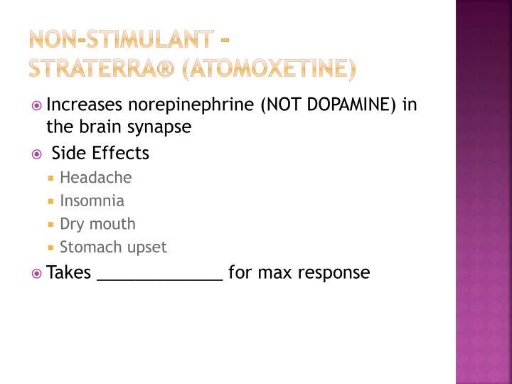 Non-stimulant –
