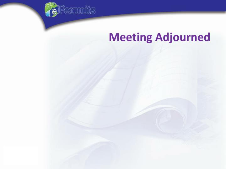 Meeting Adjourned