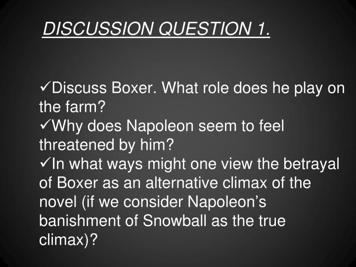 DISCUSSION QUESTION 1.