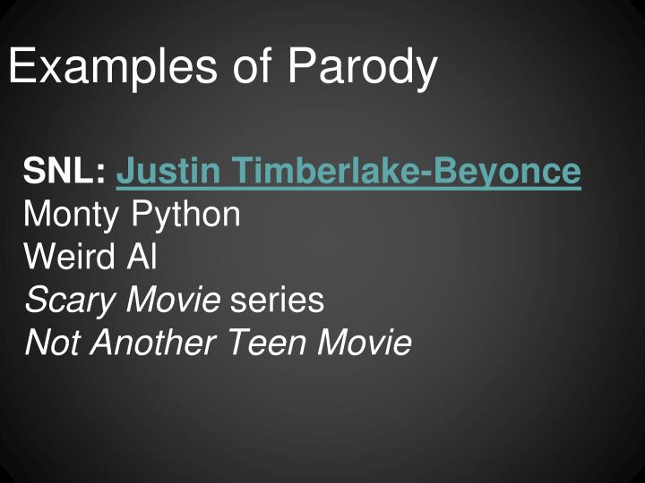 Examples of Parody