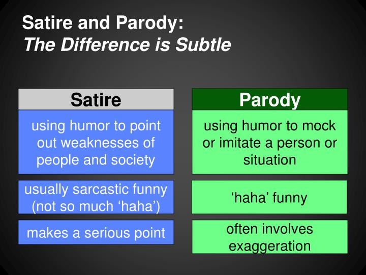 Satire and Parody: