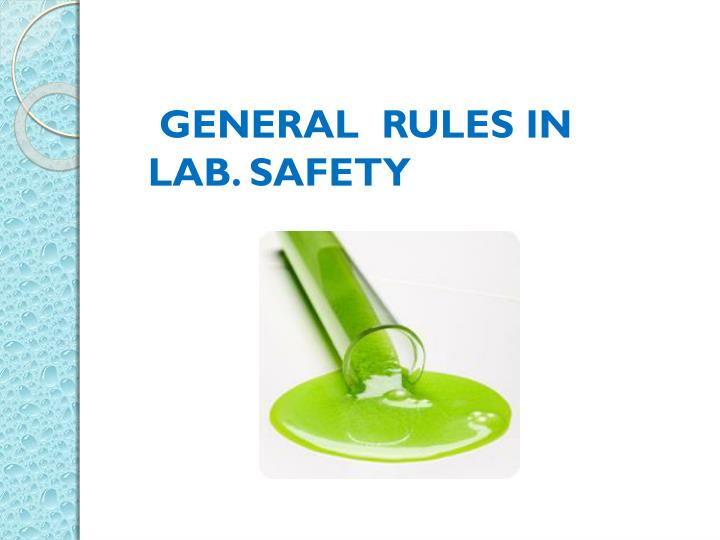 safety in the microbiology lab Microbial testing: food microbiology testing is important to ensure the safety and quality of raw ingredients, finished product and environmental samples.