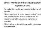 linear model and the least squared regression line