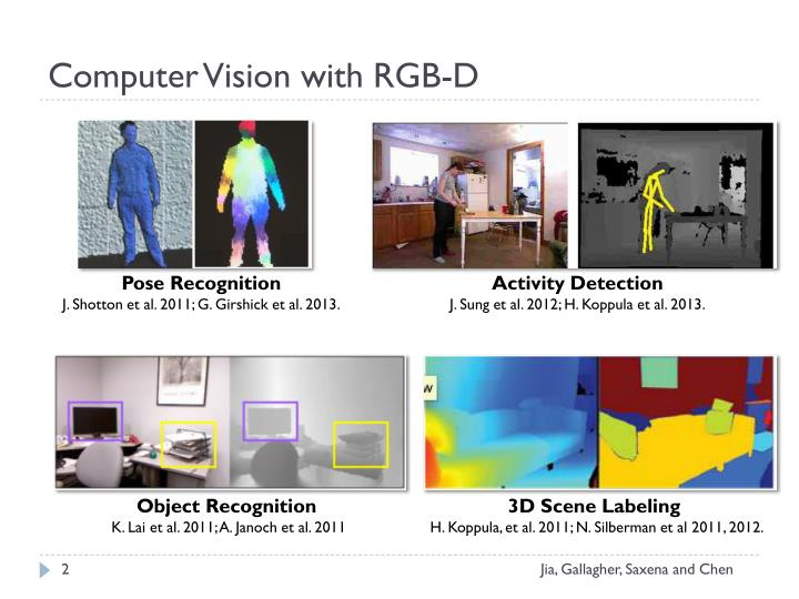 Computer vision with rgb d