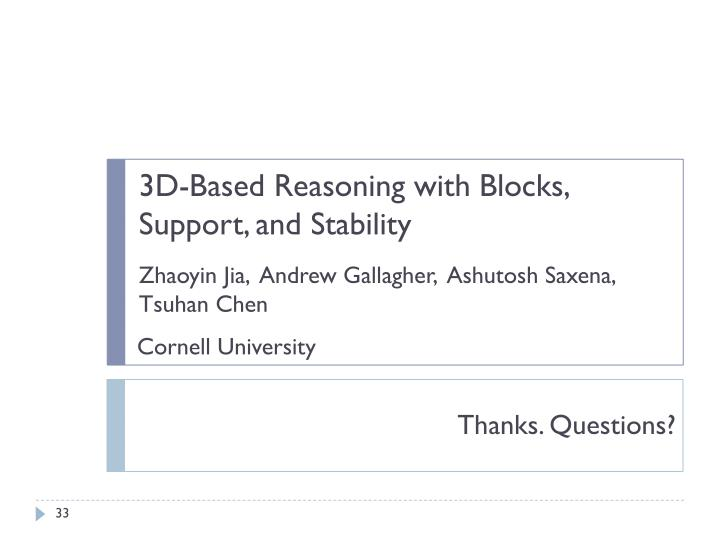 3D-Based Reasoning with Blocks, Support, and Stability