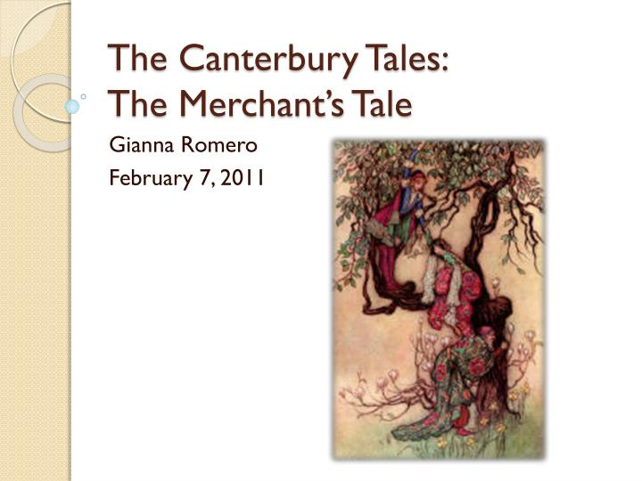 the canterbury tales the merchant s tale n.