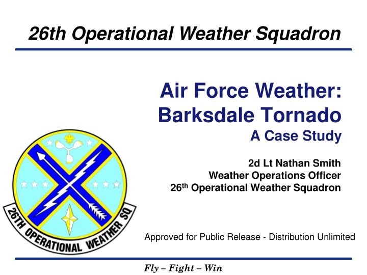 air force weather barksdale tornado a case study n.