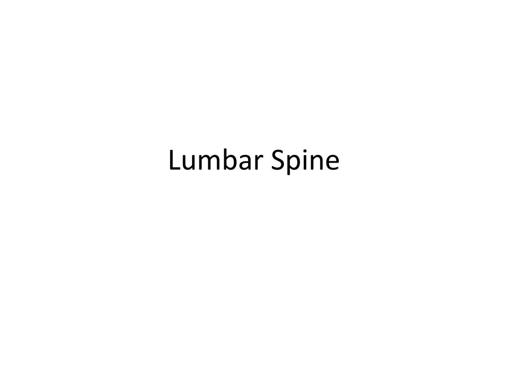 Ppt Lumbar Spine Powerpoint Presentation Id2521553