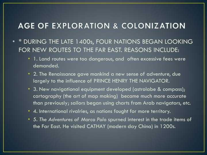 modern day colonization Eventually the overriding economic factors led to the colonization of other parts of africa thus it thus in direct encounters european forces often won the day.