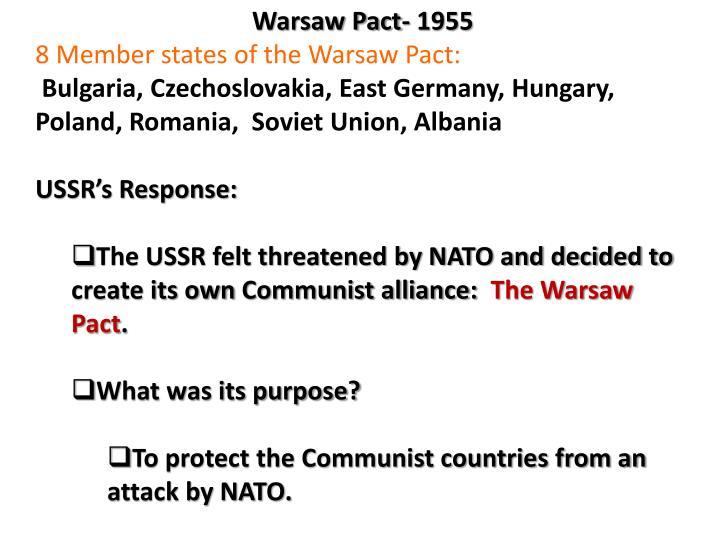 Warsaw Pact- 1955