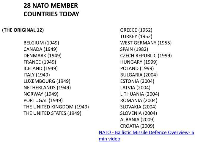 28 NATO MEMBER