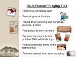 do it yourself staging tips