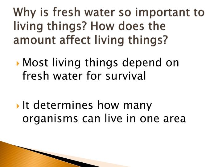 why is water important in living organisms essay Essays related to properties of water and its role in this is an important property that affects the also many organisms living in water spend most of.