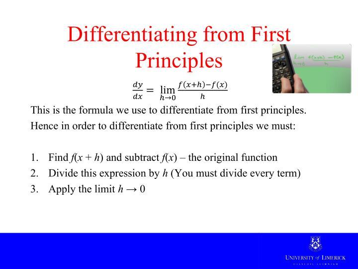Differentiating from First Principles