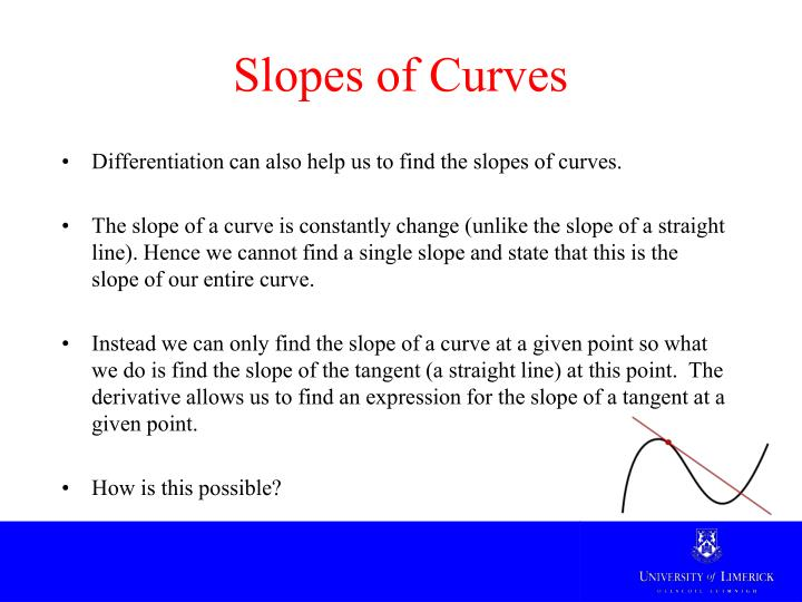 Slopes of Curves