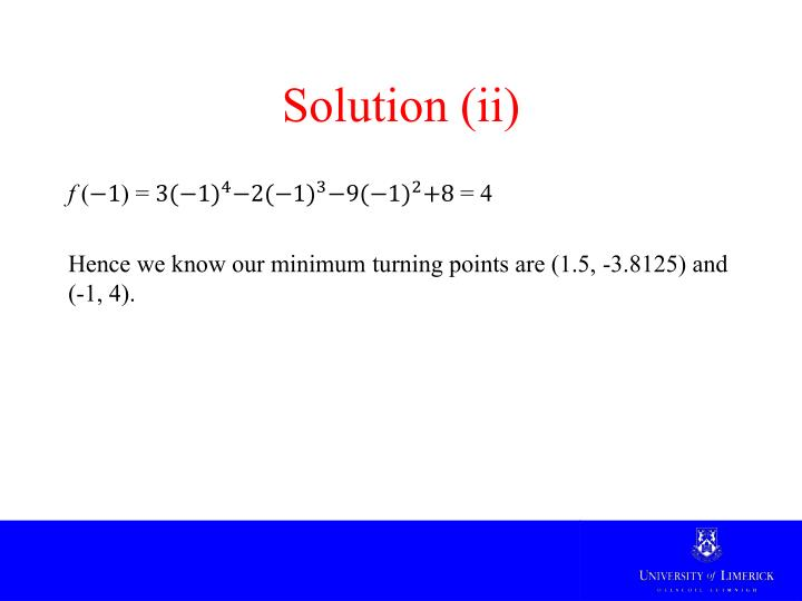 Solution (ii)