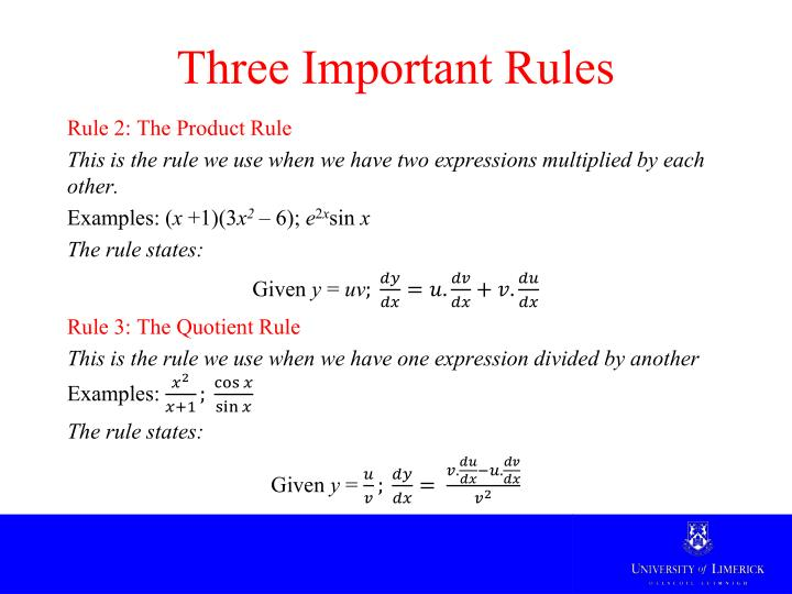 Three Important Rules